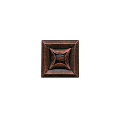 Daltile Armor 2 x 2 Dot Guilded Copper 2 x 2 Star Tile & Stone
