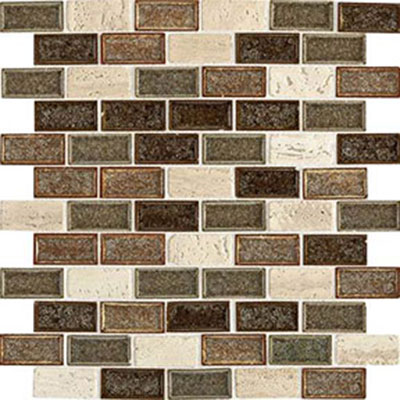 Daltile Aura 1 x 2 Brick Joint Mosaic Autumn Haze Tile & Stone