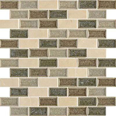 Daltile Aura 1 x 2 Brick Joint Mosaic Meadow Mist Tile & Stone