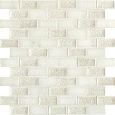 Daltile Aura 1 x 2 Brick Joint Mosaic Silver Cloud Tile & Stone