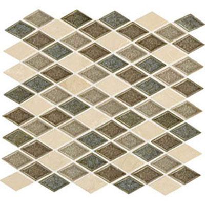 Daltile Aura 1 x 2 Harlequin Mosaic Meadow Mist Tile & Stone