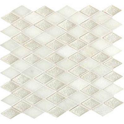 Daltile Aura 1 x 2 Harlequin Mosaic Silver Cloud Tile & Stone