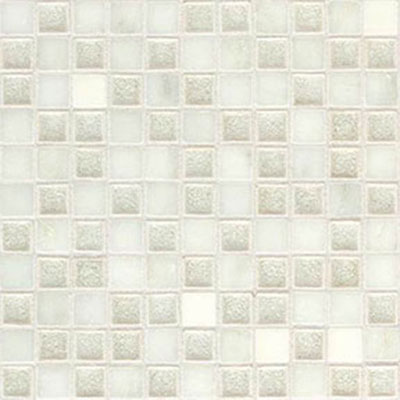 Daltile Aura 1 x 1 Mosaic Silver Cloud Tile & Stone