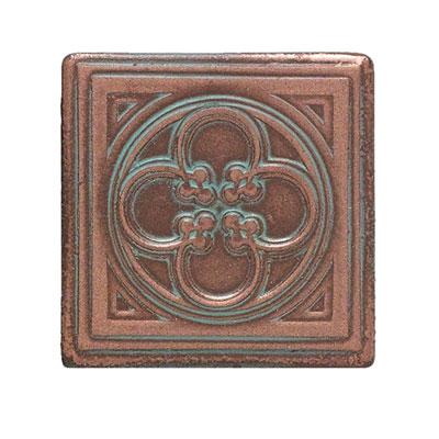 Daltile Castle Metals Aged Copper Clover Dot Tile & Stone