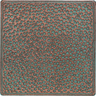 Daltile Castle Metals Aged Copper Hammered Insert Tile & Stone