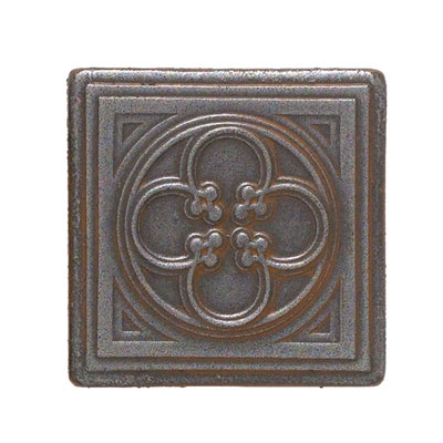 Daltile Castle Metals Wrought Iron Clover Dot Tile & Stone