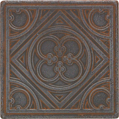 Daltile Castle Metals Wrought Iron Clover Insert Tile & Stone