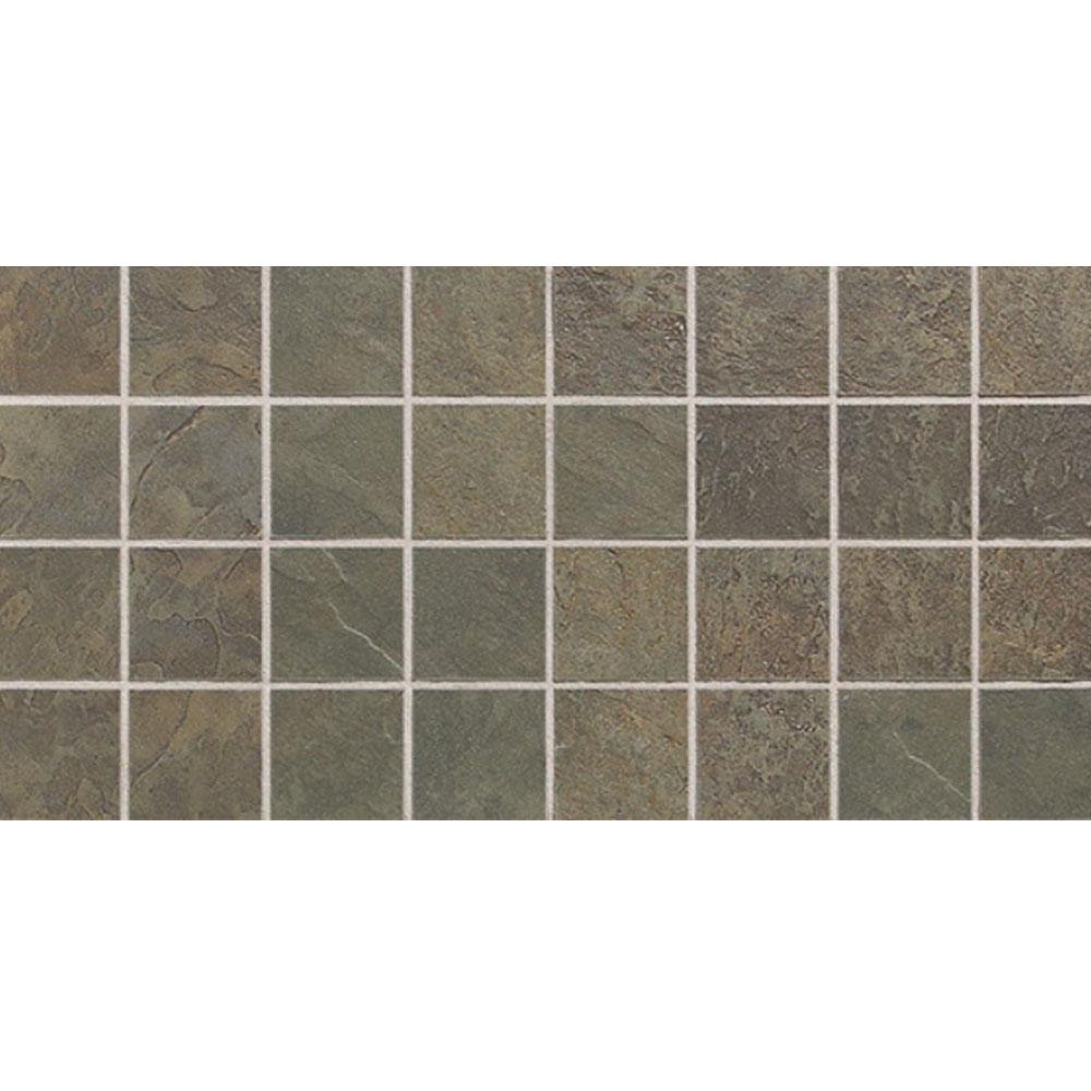 Daltile Continental Slate Mosaic 12 x 24 Brazilian Green Tile & Stone