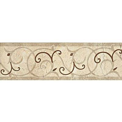 Daltile Cortona Accent 4 x 13 White Flora Tile & Stone