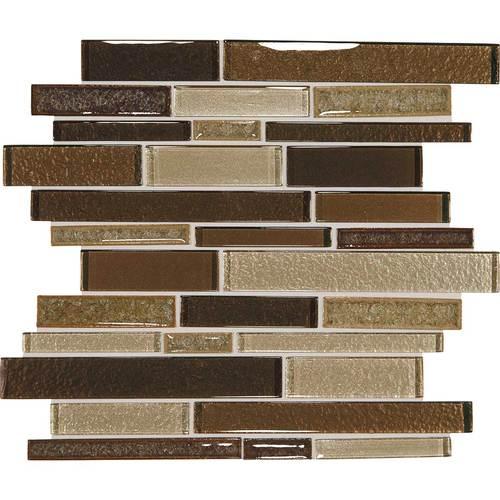 Daltile Crystal Shores Random Linear Mosaic Copper Coast Tile & Stone