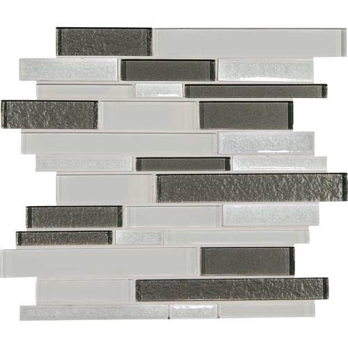 Daltile Crystal Shores Random Linear Mosaic Delta Diamond Tile & Stone