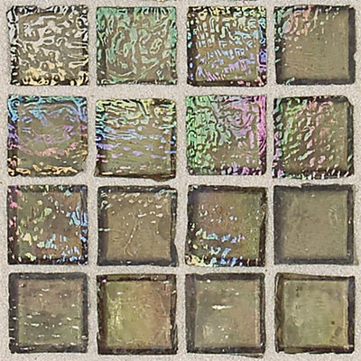 Daltile Egyptian Glass Mosaics 2 x 2 Iridescent Clear Camel Tile & Stone