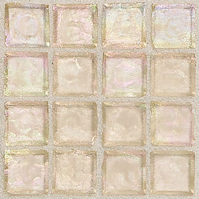 Daltile Egyptian Glass Mosaics 2 x 2 Iridescent Clear Dune Tile & Stone