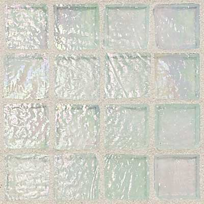 Daltile Egyptian Glass Mosaics 1 x 1 Iridescent Clear Opal Tile & Stone
