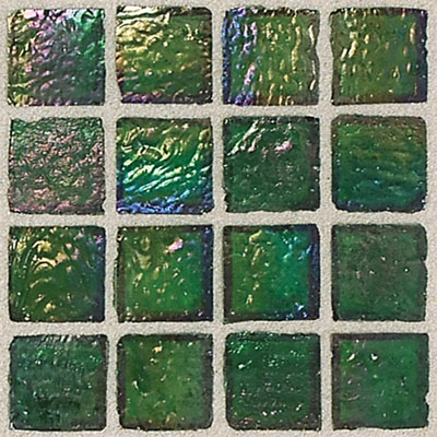 Daltile Egyptian Glass Mosaics 1 x 1 Iridescent Clear Papyrus Tile & Stone
