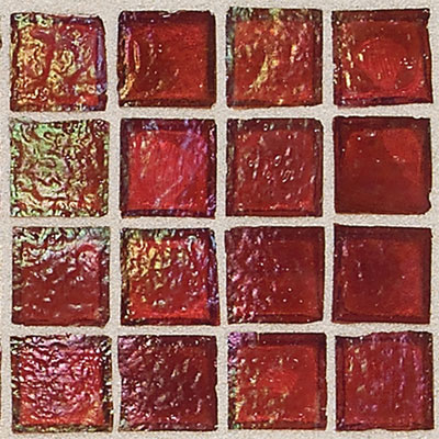 Daltile Egyptian Glass Mosaics 1 x 1 Iridescent Clear Rosetta Tile & Stone