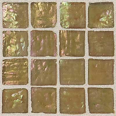Daltile Egyptian Glass Mosaics 2 x 2 Iridescent Clear Sahara Tile & Stone