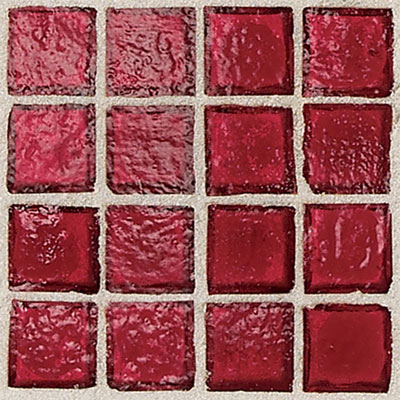 Daltile Egyptian Glass Mosaics 2 x 2 Clear Crimson Tile & Stone