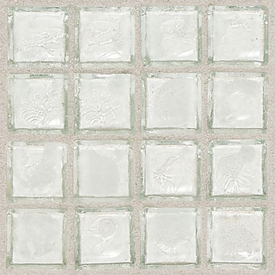 Daltile Egyptian Glass Mosaics 1 x 1 Clear Isis Tile & Stone