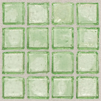 Daltile Egyptian Glass Mosaics 2 x 2 Clear Palm Tile & Stone