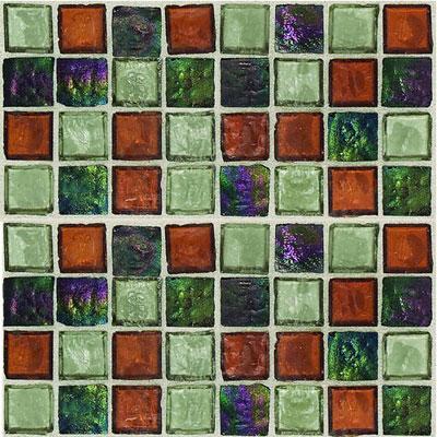 Daltile Egyptian Glass Mosaics 1 x 1 Blends Amber Medley Tile & Stone