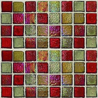 Daltile Egyptian Glass Mosaics 1 x 1 Blends Garnet Gallery Tile & Stone