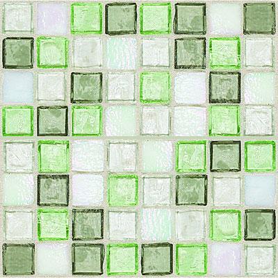 Daltile Egyptian Glass Mosaics 1 x 1 Blends Peridot Fusion Tile & Stone
