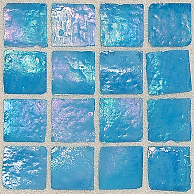 Daltile Egyptian Glass Mosaics 2 x 2 Iridescent Solid Caspian Tile & Stone