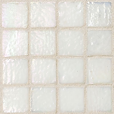 Daltile Egyptian Glass Mosaics 1 x 1 Iridescent Solid Cotton Tile & Stone