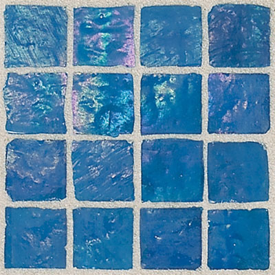 Daltile Egyptian Glass Mosaics 1 x 1 Iridescent Solid Nile Tile & Stone