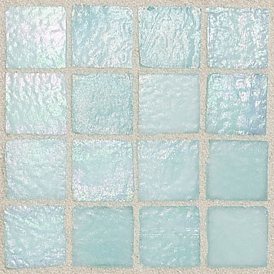 Daltile Egyptian Glass Mosaics 2 x 2 Iridescent Solid Oasis Tile & Stone
