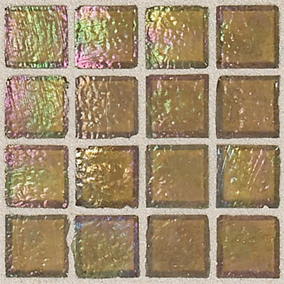 Daltile Egyptian Glass Mosaics 1 x 1 Iridescent Solid Pyramid Tile & Stone