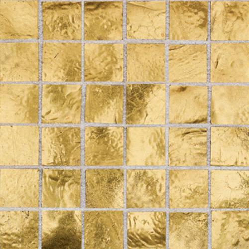 Daltile Elemental Glass Mosaic 3/4 x 3/4 Gold Nugget Tile & Stone