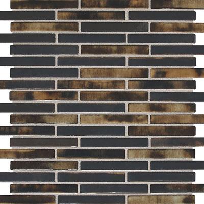 Daltile Fashion Accents Illumini 5/8 x 3 Mosaic F016 Umber Tile & Stone