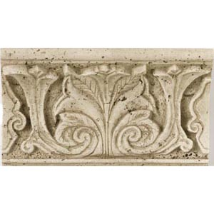 Daltile Fashion Accents Romanesque FA99 Acanthus Shelf Rail Travertine Tile & Stone
