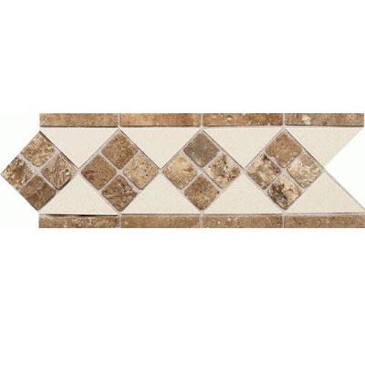 Daltile Fashion Accents Semi-Gloss w/Ocean Glass & Tumbled Stone Almond Noce Tile & Stone