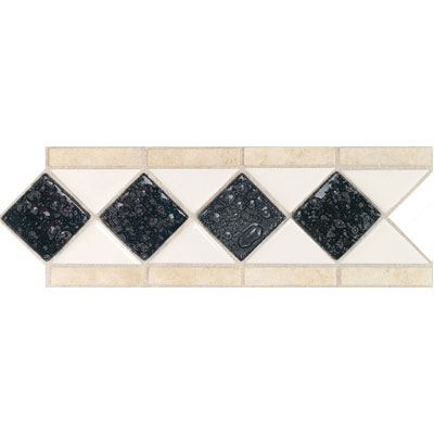Daltile Fashion Accents Semi-Gloss w/Ocean Glass & Tumbled Stone Arctic White Abyss Tile & Stone