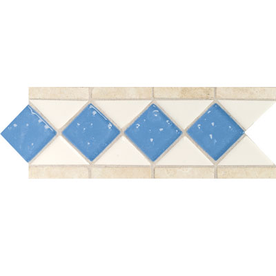 Daltile Fashion Accents Semi-Gloss w/Ocean Glass & Tumbled Stone Arctic White Lagoon Tile & Stone