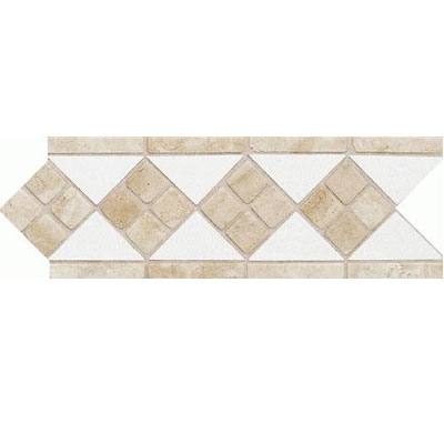 Daltile Fashion Accents Semi-Gloss w/Ocean Glass & Tumbled Stone Artic White Stone Tile & Stone