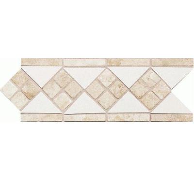 Daltile Fashion Accents Semi-Gloss w/Ocean Glass & Tumbled Stone White Travertine Tile & Stone