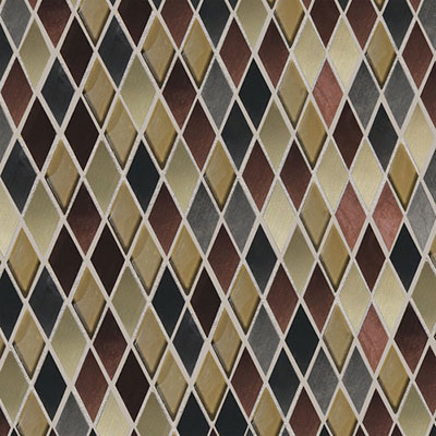 Daltile Fashion Accents Shimmer Harlequin Copper Blend Tile & Stone