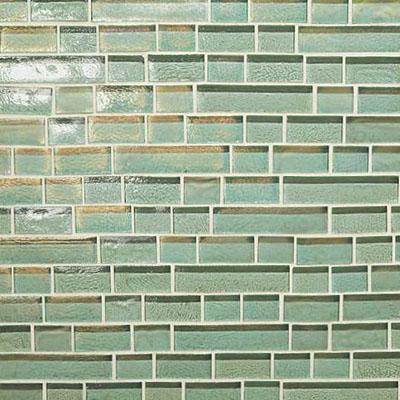 Daltile Glass Horizons Random Linear Mosaic Sea Glass Random Linear Mosaic Tile & Stone