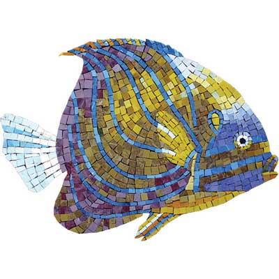 Daltile Glass Mosaic Murals Tropical Reef Fish Tile & Stone