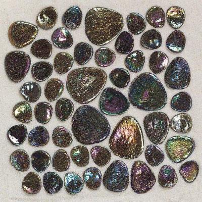Daltile Glass Pebbles Mosaic Shell Iridescent Tile & Stone