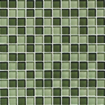 Daltile Glass Reflections Blends Mosaic 1 x 1 (Gloss) Rain Forest Tile & Stone