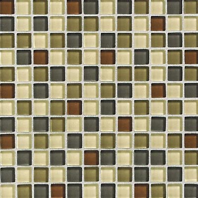 Daltile Glass Reflections Blends Mosaic 1 x 1 (Gloss) Urban Camouflage Tile & Stone