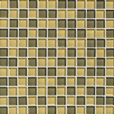 Daltile Glass Reflections Blends Mosaic 1 x 1 (Gloss) Wheat Field Tile & Stone