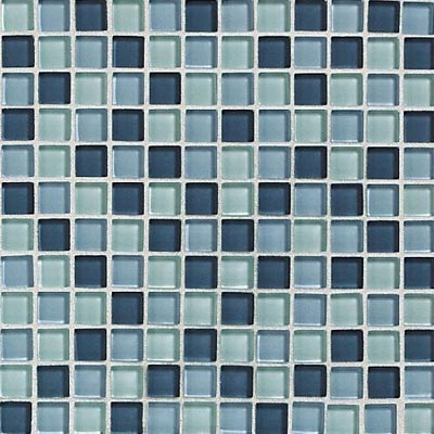 Daltile Glass Reflections Blends Mosaic 1 x 1 (Gloss) Winter Blue Tile & Stone