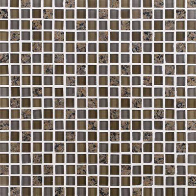 Daltile Granite Radiance Mosaic (PTS) Tropical Brown Blend Tile & Stone