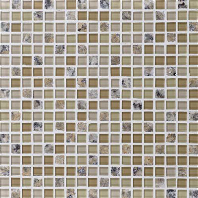 Daltile Granite Radiance Mosaic (PTS) New Venetian Gold Blend Tile & Stone
